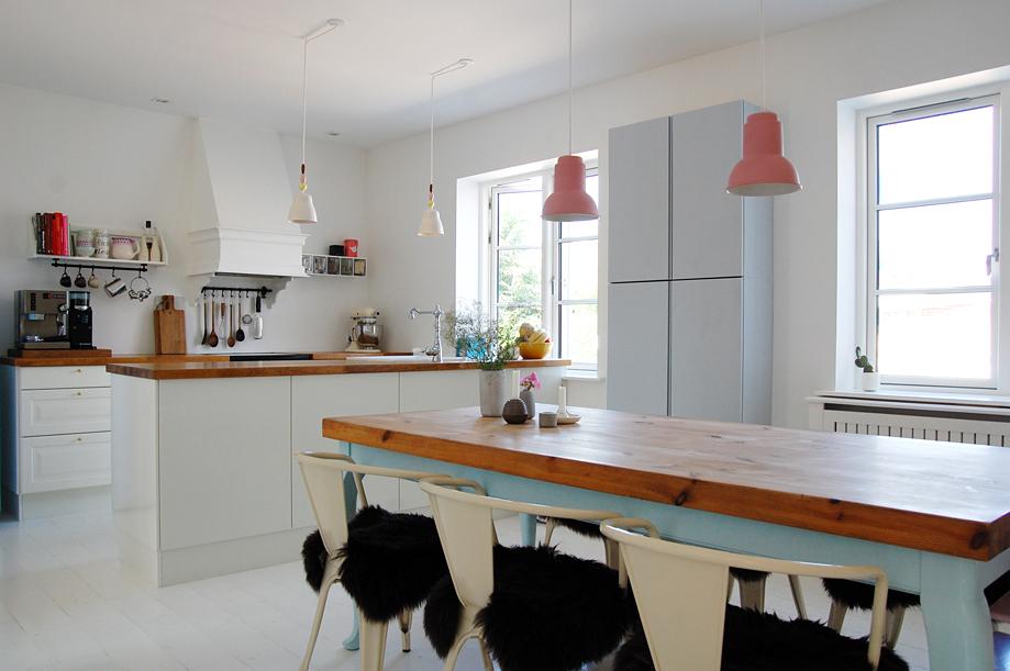 køkkener med hvidmalet gulv